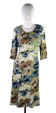 Ingenuity Canada Women Business Fit Blouse A-Line Skirt Sz-L Stretch Floral 2 pc