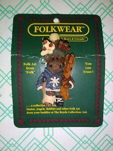 Boyds Bears Folkwear Pin, Egon ... The Skier Moose #26308 New w/ Cardboard