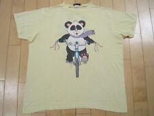 Front Back! 1987 vtg Panda Riding Bicycle T Shirt 50/50 Xl
