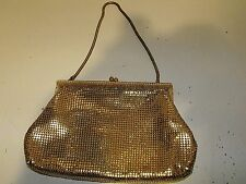 Vintage 70s Oroton Gold Mesh Evening Bag Made In West Germany.