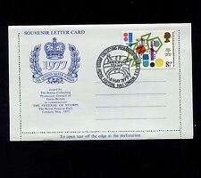1977 Gb National Stamp Day Perfin Nsd/1977 on Silver Jubilee Stationary Card