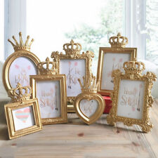 6inch Gold Crown Boutique Photo Frame Luxury Resin Picture Decor