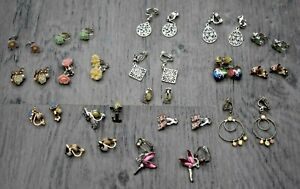 WOMENS GIRLS CLIP ON EARINGS BUNDLE CLAIRES ACCESSORIES FLOWERS ANIMALS + MORE