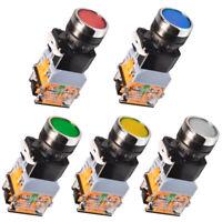 LA38 Maschinen Schalter Drucktaster Industrie Einbau 22mm Taster Beleuchtet