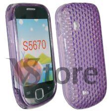 Cover Custodia Gel TPU Viola Per SAMSUNG S5360 GALAXY Y + Pellicola Display