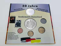 50 JAHRE GRUNDGESETZ - BRD - MÄNNER DER ERSTEN STUNDE 1949-1999 MÜNZEN-SET