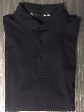 Herren Poloshirt CLARK ROSS Pima Cotton Schwarz Langarm Gr. M
