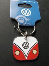 VW Camper Bus Keyring Key Keychain Chain 1.6 inches Ring Metal Enamel