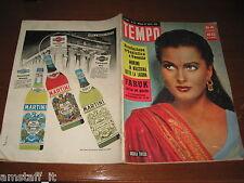 RIVISTA TEMPO 1955/16=URSULA THIESS=FARUK=WHITE SANDS=ALBA ARNOVA=CLARK GABLE=