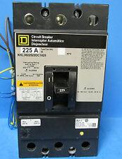 * Square D 3 Pole 225 Amp I-Line Circuit Breaker Cat# Khl3622522Dc1625 Vc-30