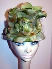 Vintage Celadon Green Floral Fantasy Top Hat Topper