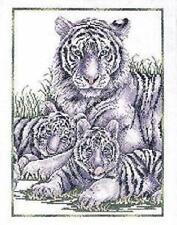 blanc TIGRES Tigress & LOUVETEAUX Kit pour point de croix Design Works