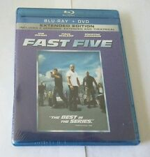"Fast Five (Blu-ray/DVD, 2011, 2-Disc Set, Rated/Unrated) VIN DIESEL  ""NEW"""
