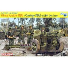 Dragon 6531 105 Mm Howitzer M2A1 y M2A2 De Carro con Kit de escala 1/35 de cuello redondo USMC pistola