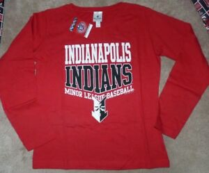 NEW MiLB Minor League Baseball Indianapolis Indians L/S Women S Small T Shirt