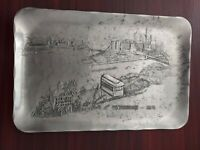 """Wendell August Forge Hand Wrought 5 3/4"""" x 8 3/4"""" Tray Pittsburgh - 1976"""