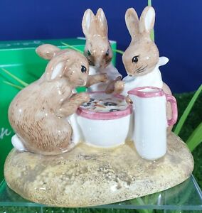 BESWICK  BEATRIX POTTER FLOPSY MOPSY AND COTTON-TAIL LTD EDITION TABLEAUX RARE