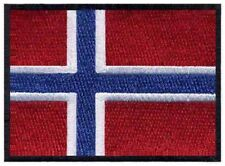 2 pcs NORWEGIAN Flag Embroidered Iron on Patches - NORWAY NORGE
