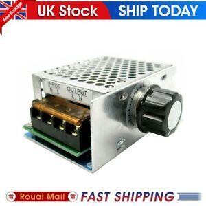 220V AC 4000W SCR Variable Voltage Regulator Motor Speed Control Controller UK