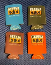 Lot of 4 Bell's Beer Inspired Brewing Foam Can Koozies NOS Kalamazoo Michigan