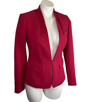 NWT White House Black Market Blazer Jacket 0 XS Empress Red Long Sleeve NEW $160