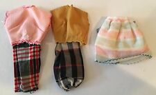 Lot Of 3 Assorted Doll Clothing Outfits Tops Pants & Skirts New Old Stock