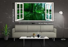 Green Lake Panoramic Canvas Print XXL 4.5 ft Wide x 2 ft High 55 in x 24 in
