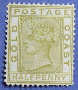 1879 GOLD COAST 1/2d SCOTT# 4 S.G.# 4 UNUSED                             CS01278