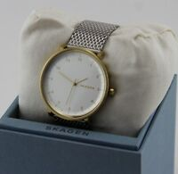 NEW AUTHENTIC SKAGEN SIGNATURE HALD GOLD SILVER MESH MENS SKW6170 WATCH