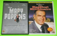 Disney DVD Lot - Mary Poppins (Used) The Happiest Millionaire (New)