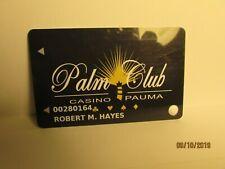 "New listing Pauma Casino ""Palm Club"" -Casino Players Card- Pauma Valley, Ca -mint"