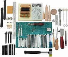 Leather Craft Tools, Hand Sewing Stitching Leather Diy Stamping Working Kit Set
