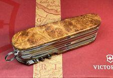 Couteau Suisse Victorinox Swisschamp Custom Manche En Loupe Amboine Rouge