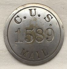 Circa 1900 Chicago Union Station Mail Handler Badge
