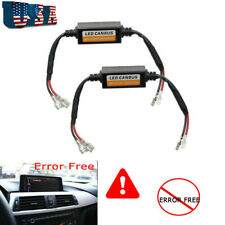 2x H1 H3 Fog Light LED Canbus Error Canceller Anti Flicker Resistor Decoder