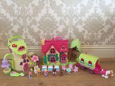 ELC Happyland - Cherry Tree Cottage , Fairy Boot Treehouse , Caravan &  Figures