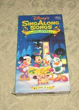 Disneys Sing Along Songs - Very Merry Christmas Songs (VHS, 1997) SEALED!!