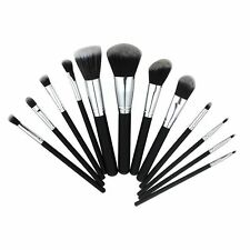 12pc KABUKI STYLE PROFESSIONAL MAKE UP BRUSH SET BLUSHER FOUNDATION FACE POWDER