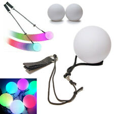 2x LED Colorful Glow POI Thrown Balls Light Up Party Hand Swirl Belly Dance Prop