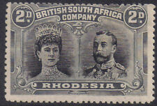 Rhodesia 1910 2d Two pence black & grey sg 126 MH