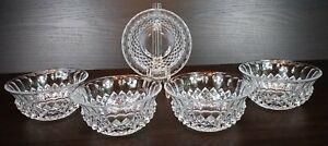 """5 Gorgeous Cristal D'Arques France Longchamp 5"""" Crystal Diamond Point Bowls"""
