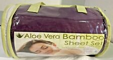 Bamboo Comfort Aloe Vera Infused Queen sheet, Fitted Sheet, 2 pillow Case Purple