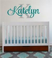 Decal Decor Girls Bedroom Personalized Name Initial Vinyl Nursery Wall Sticker