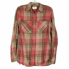 Denim & Supply Ralph Lauren Top womens S Pink Plaid Button Up Boyfriend Shirt
