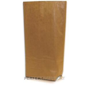 1000 Bodenbeutel 17x26cm #216 braun ca. 1kg Papiertüten Kreuzbodenbeutel Beutel