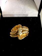 10 Kt. Yellow Gold Women's Diamond Wedding Set 5.9 Grams Total Weight