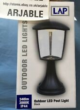 IP44 Traditional Black LED Outdoor Garden Aluminium Lantern Light Lamp Post