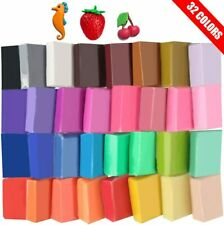 32 Colors Small Block Polymer Clay Kit Non-Toxic Molding DIY Oven Bake (Soft)