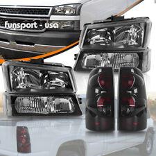 For 2003 2006 Chevy Silverado 1500 2500 2500hd Headlights Smoke Tail Light Set Fits 2005 Chevrolet Silverado 2500 Hd Ls