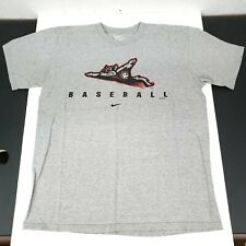Nike Mens Medium Tshirt Grey Richmond Flying Squirrels Minor League Baseball